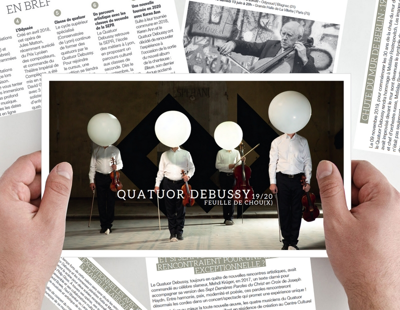 Le magazine du Quatuor Debussy disponible !