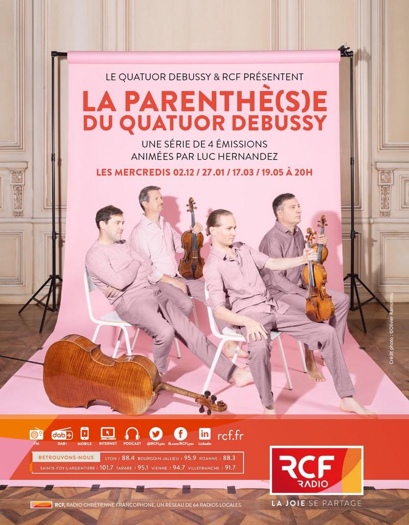 La Parenthè(s)e du Quatuor Debussy avec RCF
